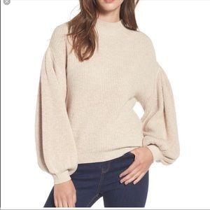 Tan Leith Balloon Sweater